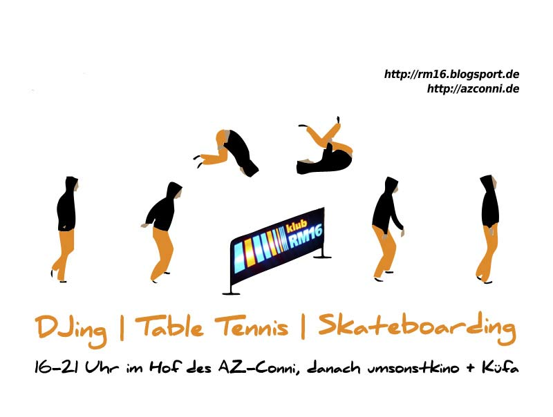 05.06.13.Afternoon DJing with table tennis & skateboarding im AZ Conni 16-21 Uhr