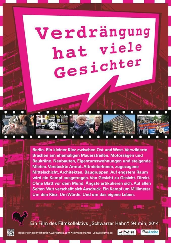25.01.2015 um 16:00 Uhr Schauburg Dresden Film+Diskussion �Verdrängung hat viele Gesicher�