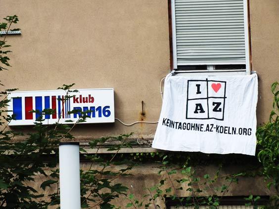 Soliaktion für Autonome Zentrum (AZ) in Köln