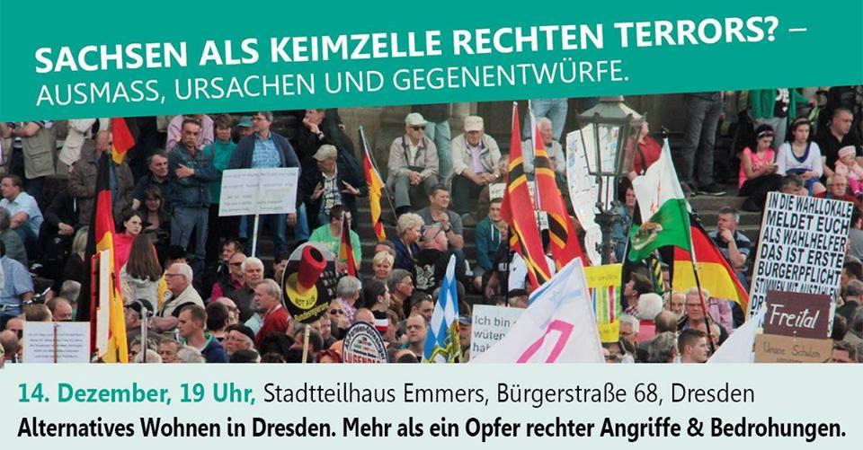 Alternatives Wohnen in Dresden. Mehr als ein Opfer rechter Angriffe und Bedrohungen.