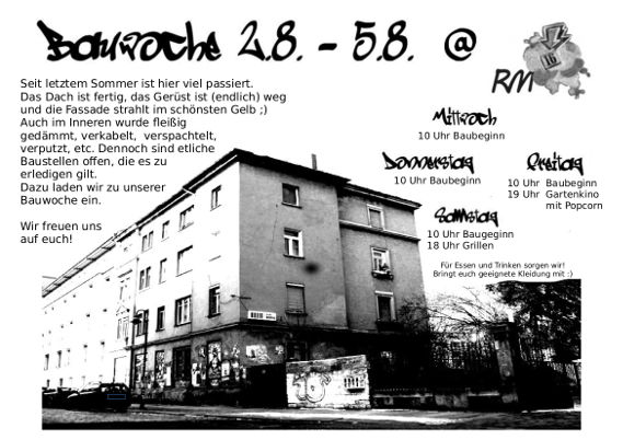 02.08-05.08 Bauchwoche in der RM16 Dresden Pieschen