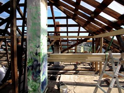Dresden Pieschen RM16 Dach von Innen