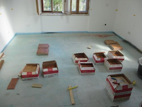 küchenfu�boden soll gefliest werden