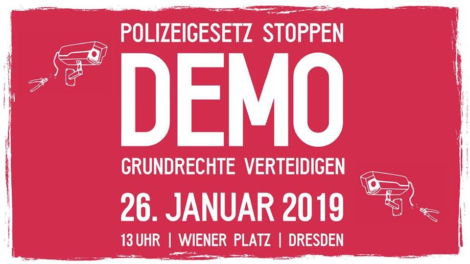 Dresden Demo »Grundrechte verteidigen« 26.01.2019