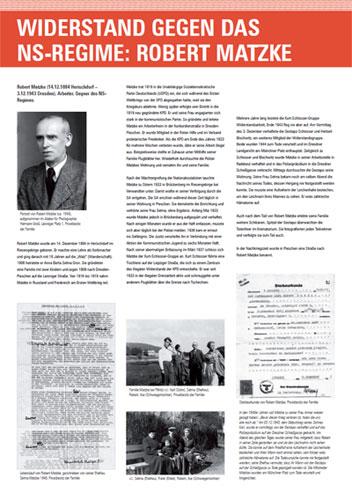 Einweihung der Geschichts und Erinnerungstafel über Robert Matzke in der Robert-Matzke-Stra�e 16 (RM16).Dresden Pieschen