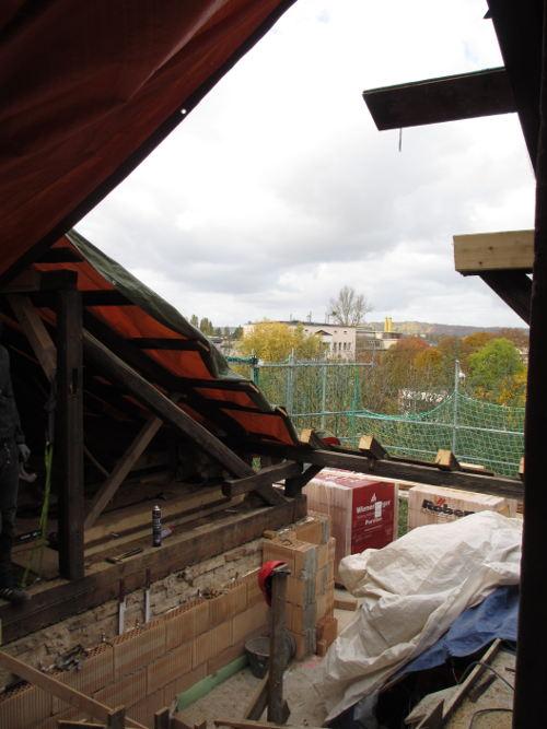 Blick von der Baustelle RM16 zum Sachsenbad