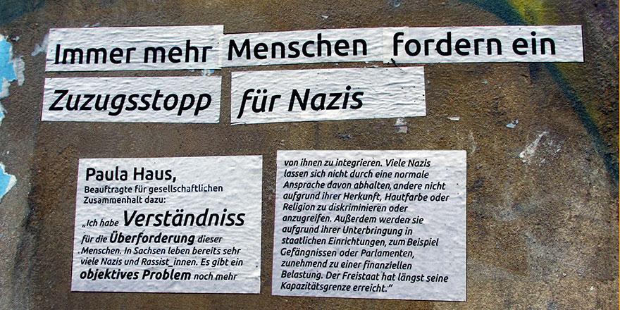 Streetart an der RM16 Dresden Pieschen Zuzugsstopp