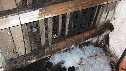 Brandort Kohlenkeller in der Robert-Matzke Str. 16 in Dresden Pieschen