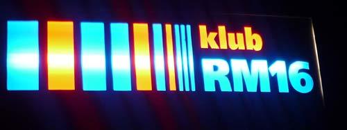 Klub RM 16 Schild