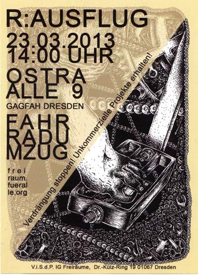 Kommt alle mit euren Fahrrädern am Samstag, den 23.3. um 14 Uhr zur Ostra-Allee 9 (Sitz der Gagfah)!