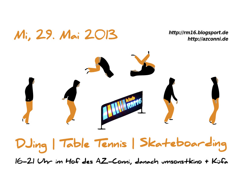 Afternoon DJing with table tennis & skateboarding